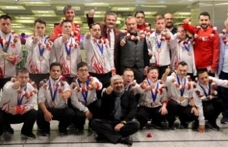 Down Sendromlu Futsal A Milli Takımı yurda döndü