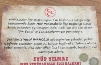 MHP'den Yenimahalle'de 13 bin esnafa  35 kuruşluk sürpriz siftah!