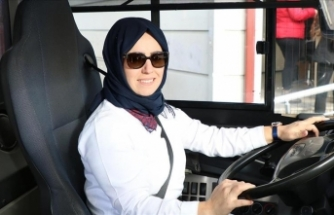 Halk otobüsleri kadın şoförlere emanet