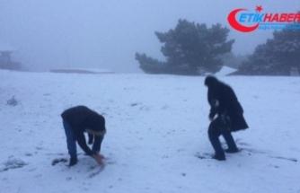 İzmirlilere kar sürprizi