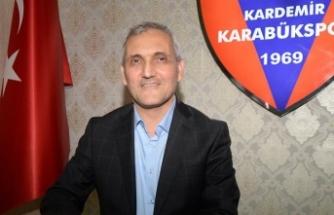 Kardemir Karabükspor Kulübü Başkanı Yüksel: Hedef takıma takviye yapmak ve ligde kalmak