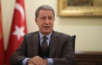 Milli Savunma Bakanı Akar: Terörle mücadeledeki kararlılığımız devam ediyor