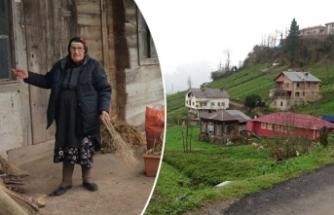 Rize'de kayan köyün sakinleri endişeli