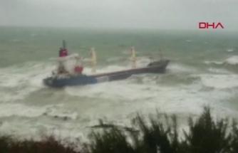 Şile'de kargo gemisi kıyıya oturdu