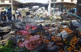 Terör örgütü PKK'dan Afrin'de pazar yerine bomba yüklü araçla saldırı