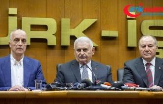 Yıldırım: Türk-İş'i ziyaretim yaşananlara karşı bir cevaptır