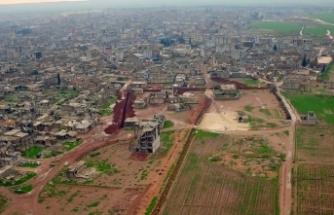 YPG/PKK'nın Ayn el-Arap'ta kazdığı hendek ve tüneller görüntülendi