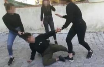 3 kız öğrenci dehşet saçtı: Dövdüler, kaydettiler ve paylaştılar