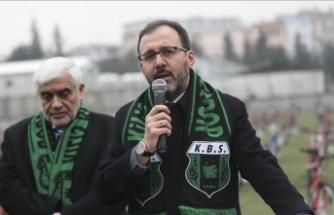 Gençlik ve Spor Bakanı Kasapoğlu: 5 bine yakın spor tesisimiz var