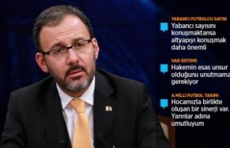 Bakan Kasapoğlu: Altyapı bizim vazgeçilmezimiz olmalı