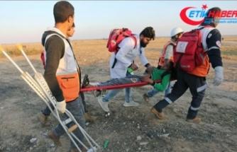 İsrail askerleri Gazze sınırında 7 Filistinliyi yaraladı