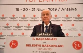 MHP Lideri Bahçeli: Bizim merakımız YSK'nın bu kadar ağır bir yükün altından nasıl kalkacağıdır?
