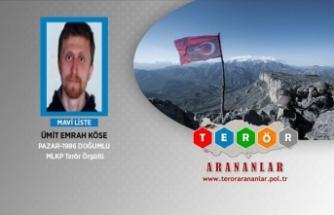 Mavi kategorideki terörist Ümit Emrah Köse yakalandı
