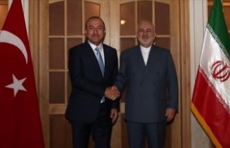 Dışişleri Bakanı Çavuşoğlu, İranlı mevkidaşı Zarif ile görüştü