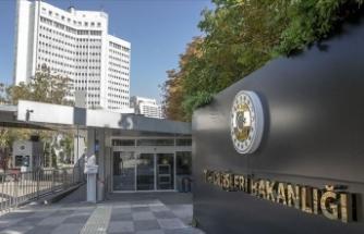 Dışişleri Bakanlığı'ndan AB Dış İlişkiler Konseyi'ne tepki