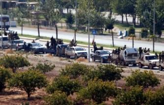 SMO bağlı 40 araçlık konvoy Rasulayn'dan Ceylanpınar ilçesine çıkış yaptı