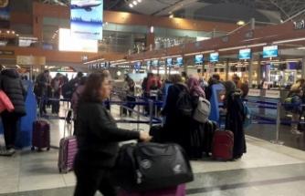 Sabiha Gökçen Uluslararası Havalimanı'nda yarıyıl tatili hareketliliği