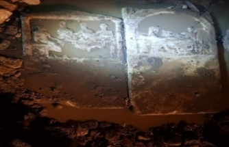 Şiddetli yağmurun toprağı aşındırmasıyla gün yüzüne çıkan antik steller müzeye taşındı
