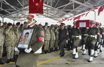 İdlib şehidi Tankçı Sözleşmeli Er Mecit Demir son yolculuğuna uğurlandı