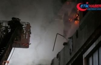 İstanbul Bahçelievler'de tekstil firmasında yangın çıktı