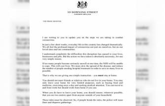 İngiltere Başbakanı Johnson'dan 30 milyon haneye korona mektubu