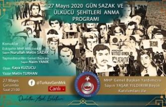 """TÜRKAV'dan Sosyal Medya'dan """"27 Mayıs Ülkücü Şehitleri Anma"""" programı"""