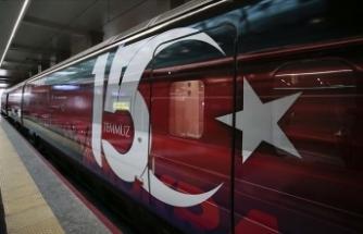 15 Temmuz Demokrasi ve Milli Birlik Treni ilk seferinde Ankara'dan hareket etti