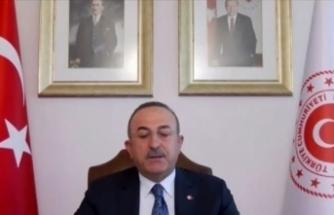 """Çavuşoğlu: """"Libya'da Birleşik Krallık da biz de tek çözümün siyasi çözüm olduğunu düşünüyoruz"""""""