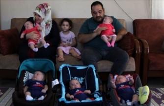 Suudi Arabistan'dan getirilen beşiz sahibi aile çifte bayram yaşayacak