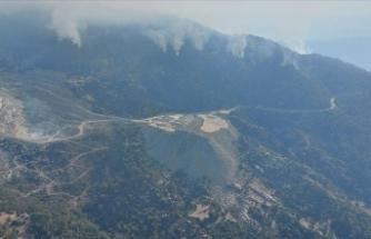 Aydın'da başlayıp Muğla'ya kadar ulaşan orman yangını kontrol altına alındı