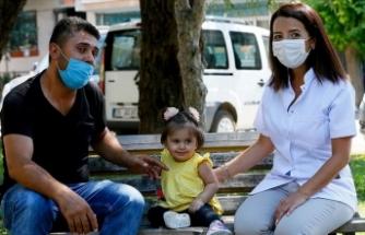 Hayatını kurtaran doktorun ismini kızına verdi