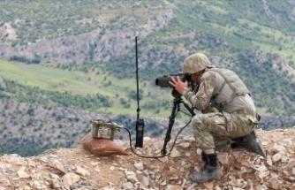 Sınırda güvenlik güçleri teröristlere geçit vermiyor