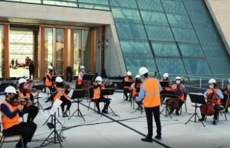 CSO'nun yeni binasının yapımında çalışan işçilere teşekkür konseri