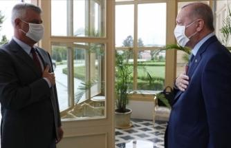 Cumhurbaşkanı Erdoğan ile Kosova Cumhurbaşkanı Taçi bir araya geldi