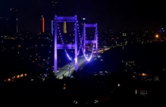 FSM Köprüsü 'alzaymır günü'nde mor ışıkla aydınlatılacak