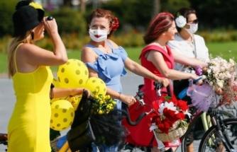 'Süslü Kadınlar' bisiklet turunu 'Kovid-19' tedbirleri altında gerçekleştirdi