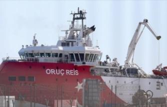 Test çalışmalarını tamamlayan Oruç Reis Antalya Limanı'na döndü
