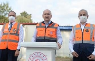 Ulaştırma ve Altyapı Bakanı Karaismailoğlu: Kuzey Marmara Otoyolu 5. Kesim yarın açılacak