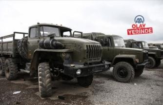 AA, Azerbaycan'ın Ermenistan ordusundan ele geçirdiği askeri araçları görüntüledi