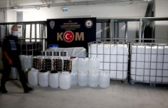 Ankara'da yılbaşından bu yana 58 bin litre sahte ve kaçak alkollü içecek ele geçirildi