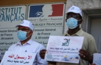 Gazzeli mühendisler, Fransa'nın İslam karşıtı tutumunu protesto etti