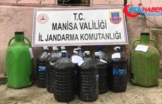 Manisa'da 20 ton sahte içki ele geçirildi