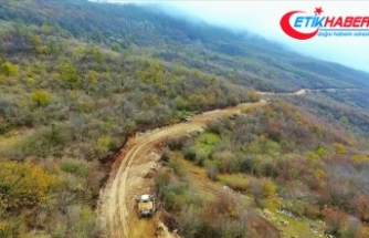 Azerbaycan'da işgalden kurtarılan Şuşa'ya yeni yol yapılıyor