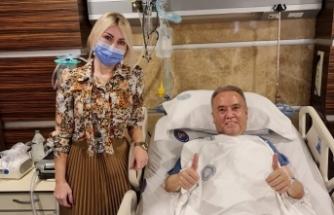Başkan Böcek, tedavisinden sonra ilk kez görüntülendi
