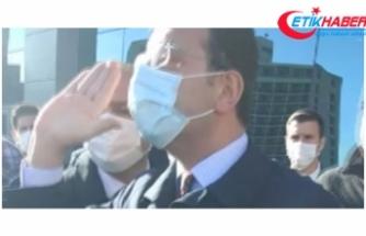 İBB Başkanı İmamoğlu kendisini yuhalayan taksicilerin üzerine yürüdü