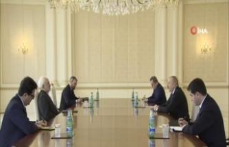 Azerbaycan Cumhurbaşkanı Aliyev, İran Dışişleri Bakanı Zarif'i kabul etti