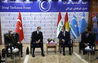 Bakan Akar, IKBY Başkanı Barzani ile görüştü