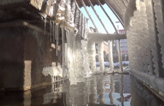 Erzurum buz kesti: Eksi 28