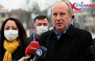 Eski CHP Milletvekili İnce, kuracağı partinin tüzük, logo ve programını yakında açıklayacaklarını belirtti