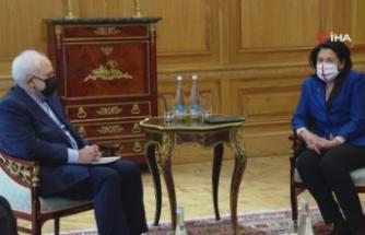 İranlı Bakan Zarif, Gürcistan Cumhurbaşkanı Zurabishvili ile görüştü